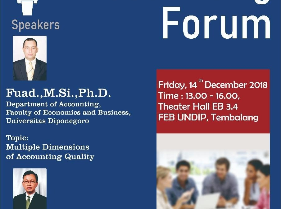 Accounting Forum (December 14, 2018)