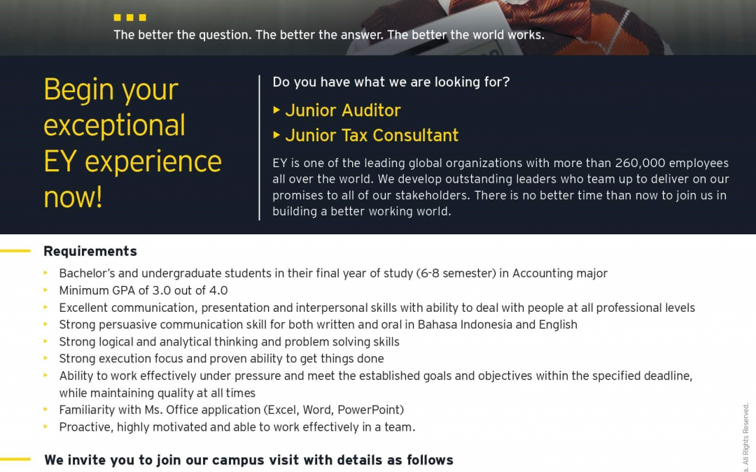 EY Campus Journey and Campus Hiring 2019