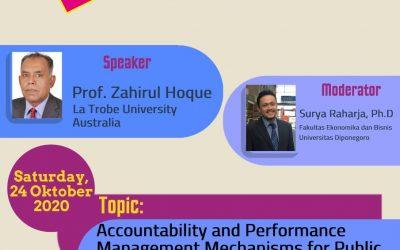 Accounting Forum, 24 October 2020: Accountability and Performance Management Mechanism (Prof. Zahirul Hoque, La Trobe University)