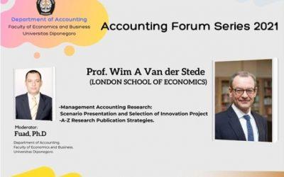 AF 28 April 2021: Prof. Van der Stede (LSE), Scenario Presentation and the Selection of Innovation Projects